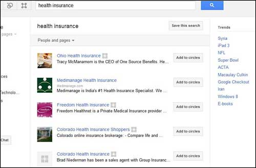 healthinsurance Google+: Business savviness   Joining the Ranks of Search Opportunity