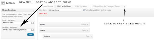 menu Wordpress: Adding a 2nd Menu Navigation (or 3rd) to Your Twenty Ten Theme Easily!